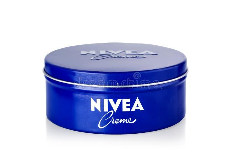 Skin cream in a metal jar royalty free stock photo