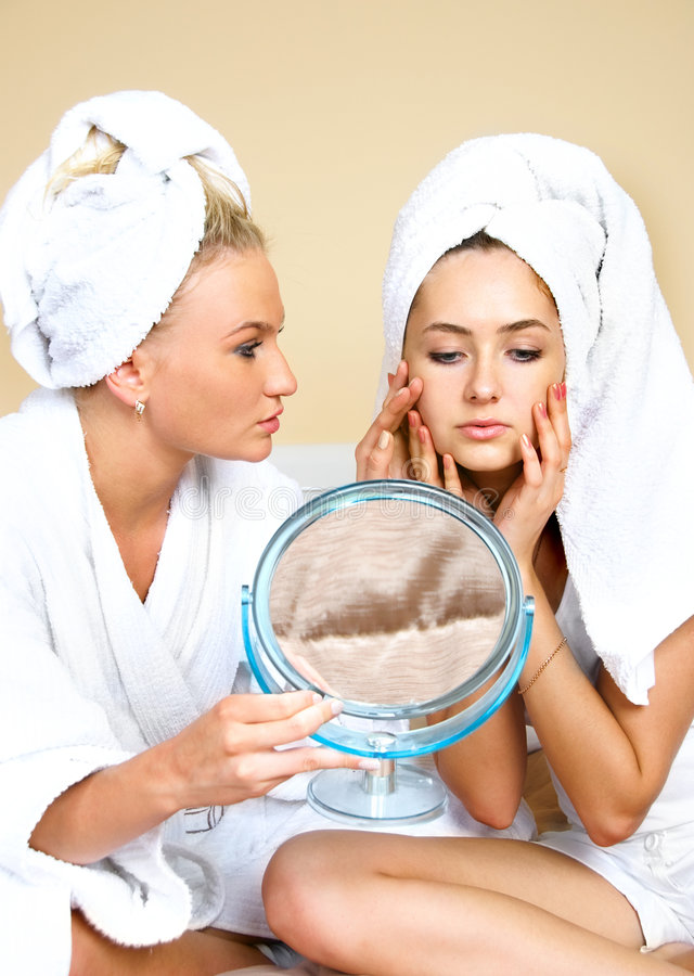 Download Skin porblems stock image. Image of procedure, friends - 9279399