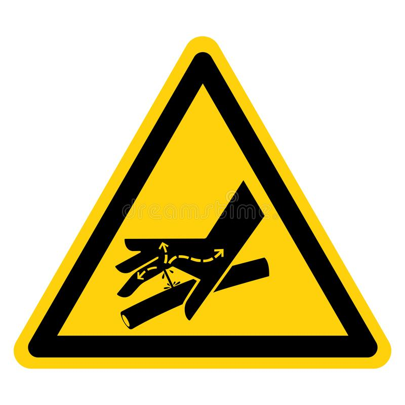 Skin Puncture Hydraulic Line Symbol Sign Isolate On White Background,Vector Illustration. Above, accident, area, belt, blade, chain, cog, cogwheel, crush, cut stock illustration