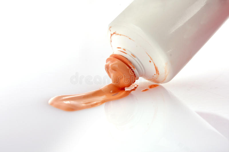 Skin toner. In tube over white royalty free stock photo