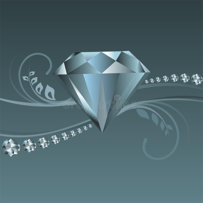 Skina diamantvektor royaltyfri illustrationer