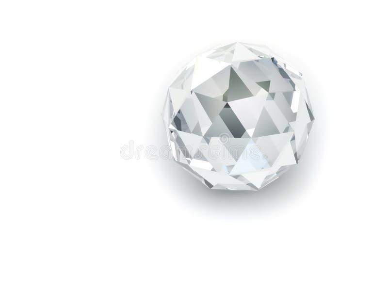 skina för kristall som är sfäriskt royaltyfri illustrationer