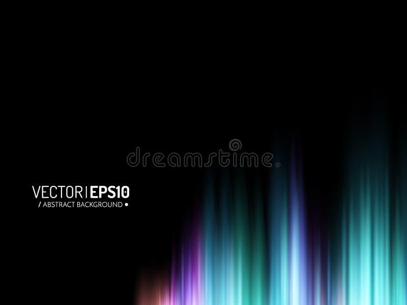 Skinande bakgrund för abstrakt vektor med den färgrika solida vågen för glöd vektor illustrationer