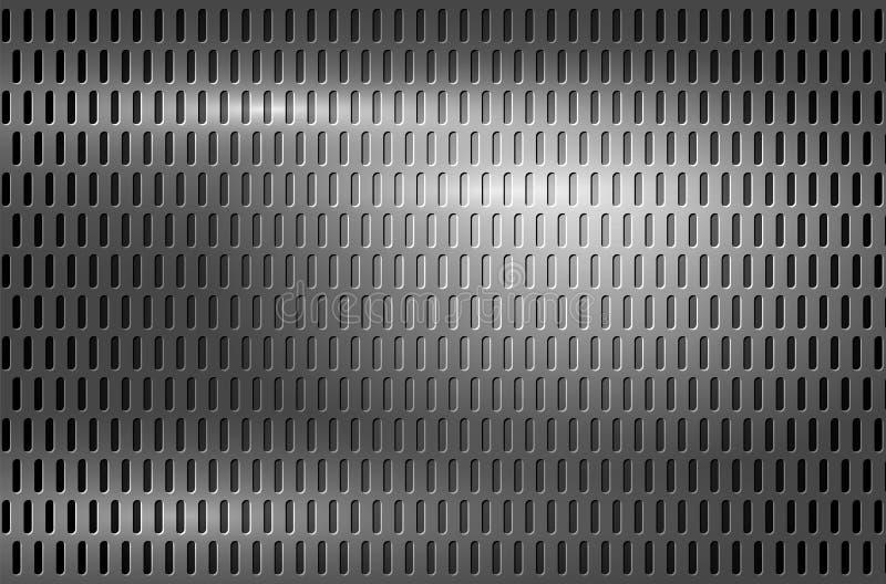 Skinande bakgrund för grå färgmetallraster stock illustrationer