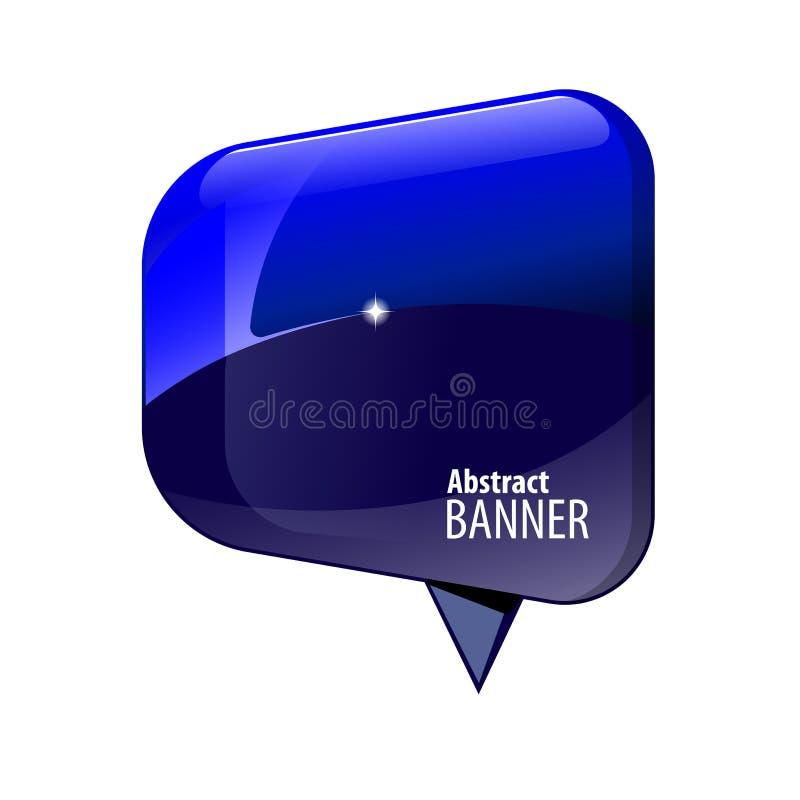 Skinande baner för glansblått 3d vektor illustrationer