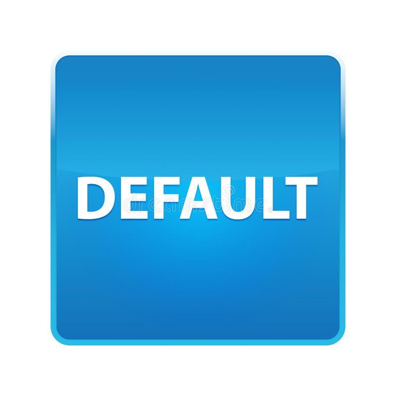 Skinande blå fyrkantig knapp för standard royaltyfri illustrationer