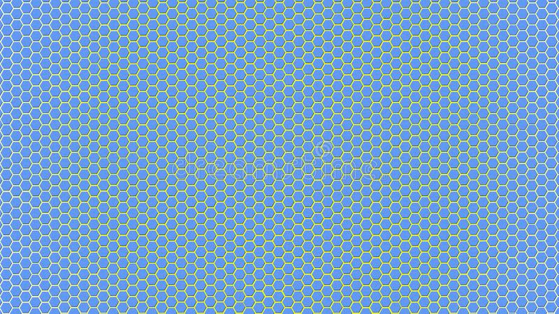 Skinande blåa sexhörningar texturerar bakgrund royaltyfri fotografi