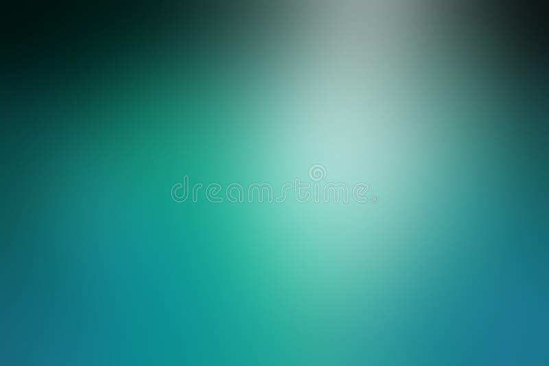 Skinande elegant suddig blått- och svartbakgrund med strålkastaresken, den härliga krickan eller turkosfärg royaltyfri illustrationer