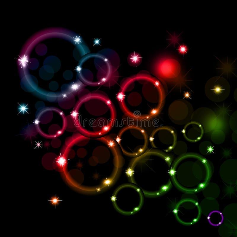 Skinande färgrik bubblig bakgrund royaltyfria bilder