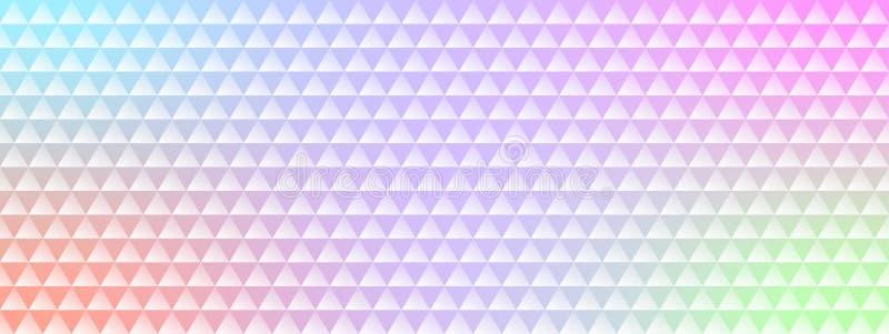 Skinande färgrik lutningbakgrund med den mosaiska modellen för trianglar stock illustrationer