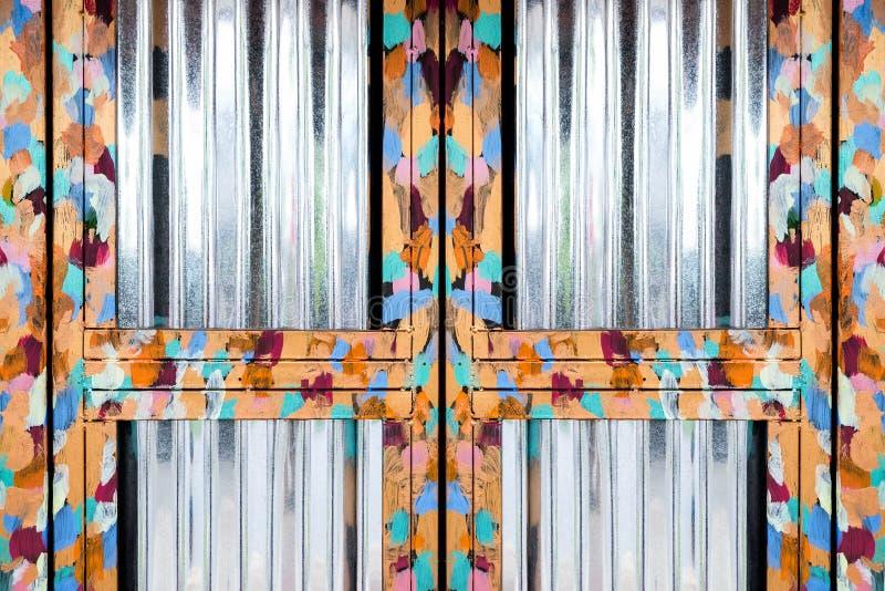 Skinande för ståldörr för olje- målning ram royaltyfria bilder