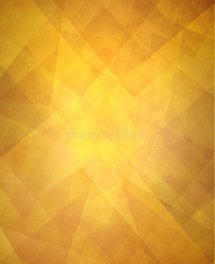 Skinande guld- lyxig bakgrund för abstrakt triangelmodell royaltyfri illustrationer