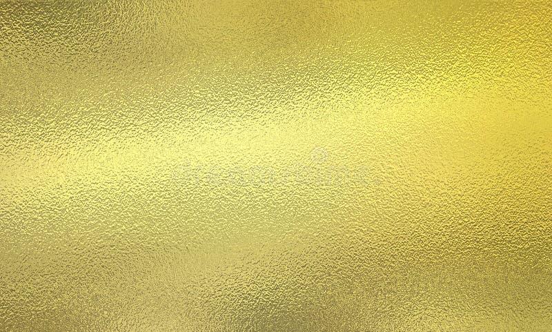 Skinande guld- metallisk folie arkivfoton