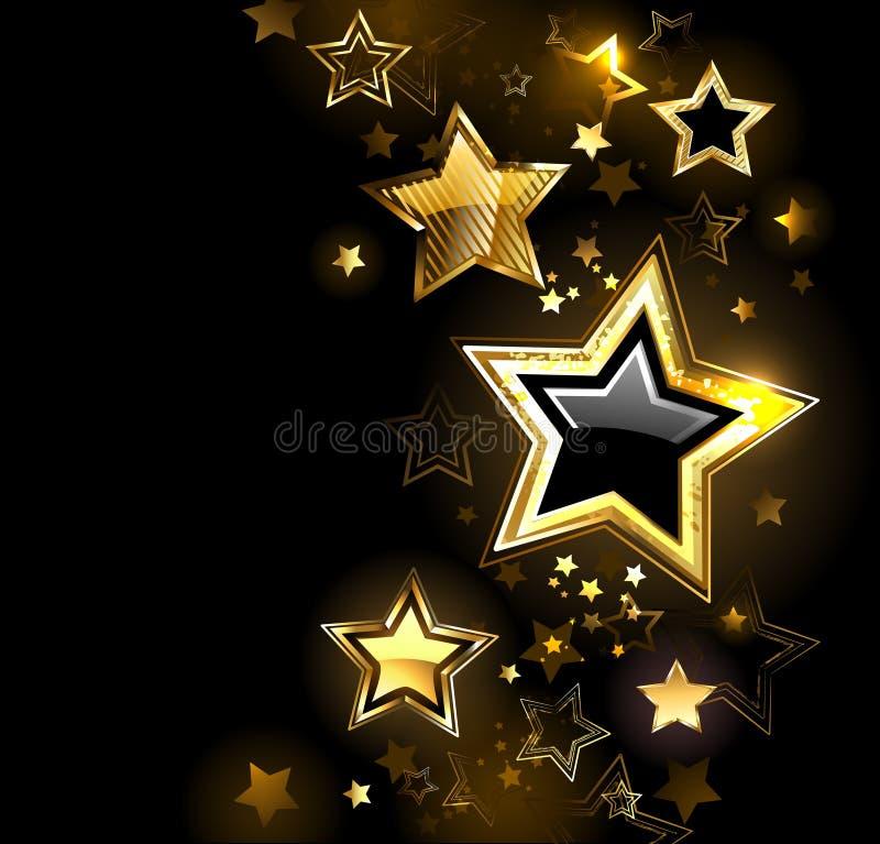 Skinande guld- stjärna royaltyfri illustrationer