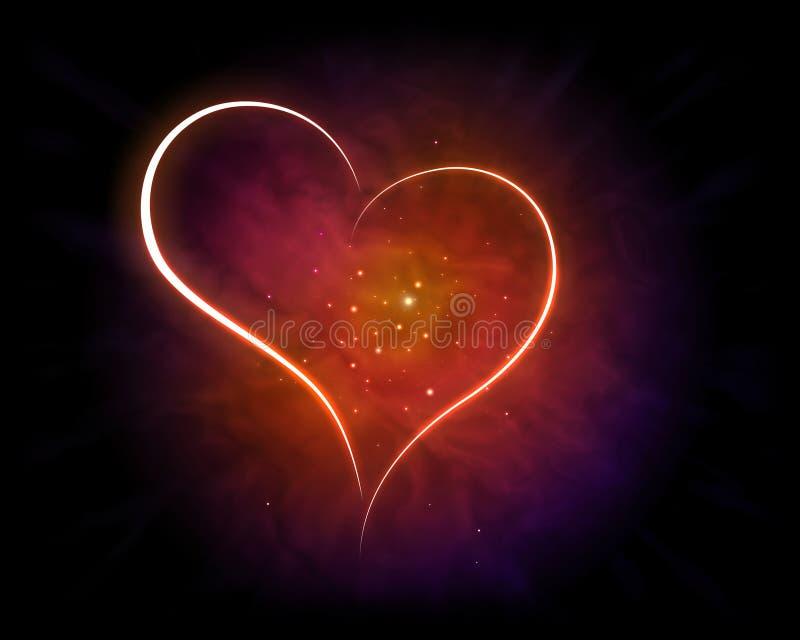 Skinande hjärta stock illustrationer