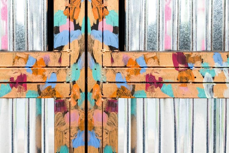 Skinande metallram för olje- målning arkivfoton