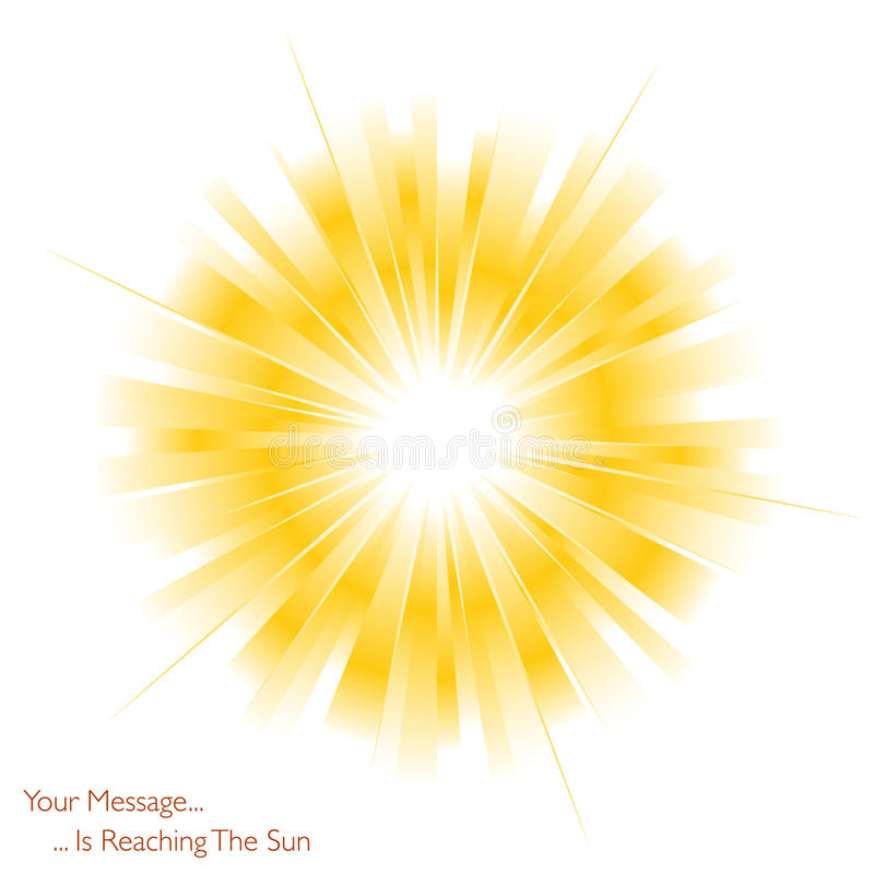 skinande sun stock illustrationer