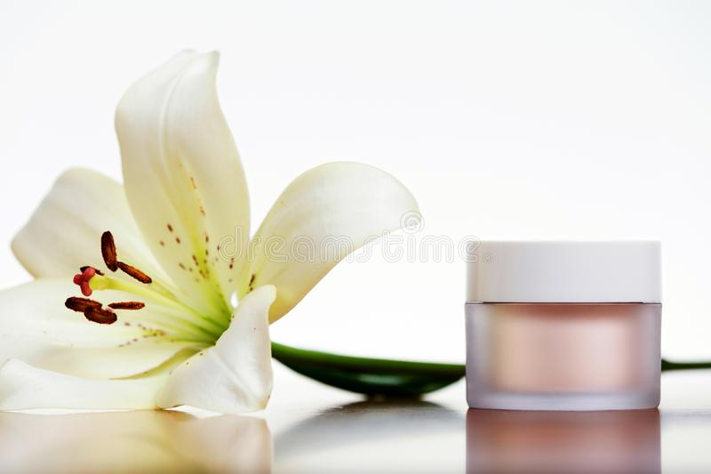 Skincare奶油 免版税图库摄影