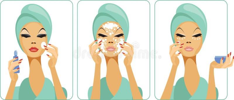 skincare 向量例证