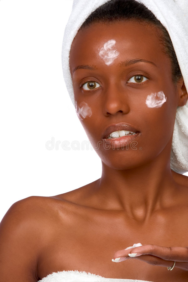 Skincare, african american stock image