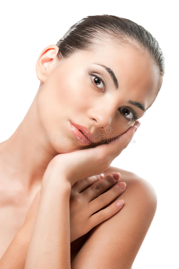 Skincare and beauty portrait royalty free stock photo