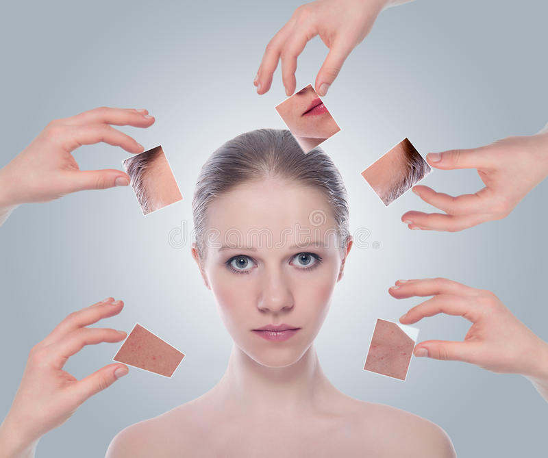 Skincare do conceito. fotos de stock royalty free