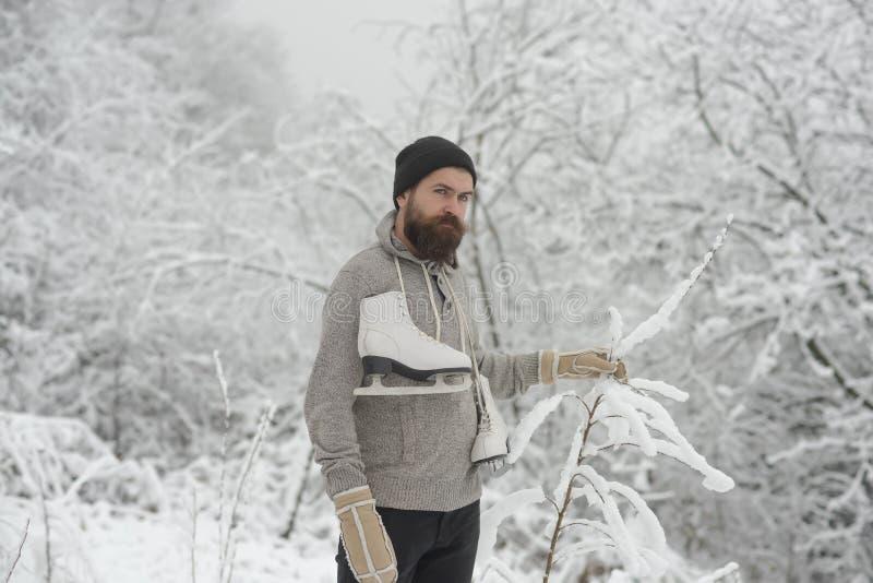 Skincare e cura della barba nell'inverno immagine stock libera da diritti