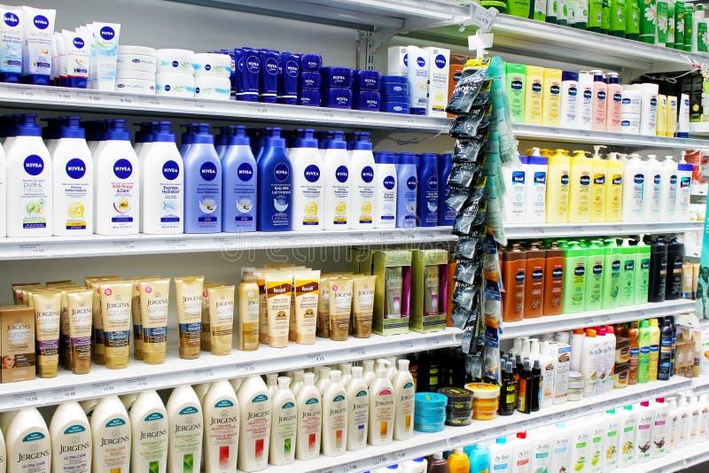 Skincare e prodotti cosmetici fotografie stock
