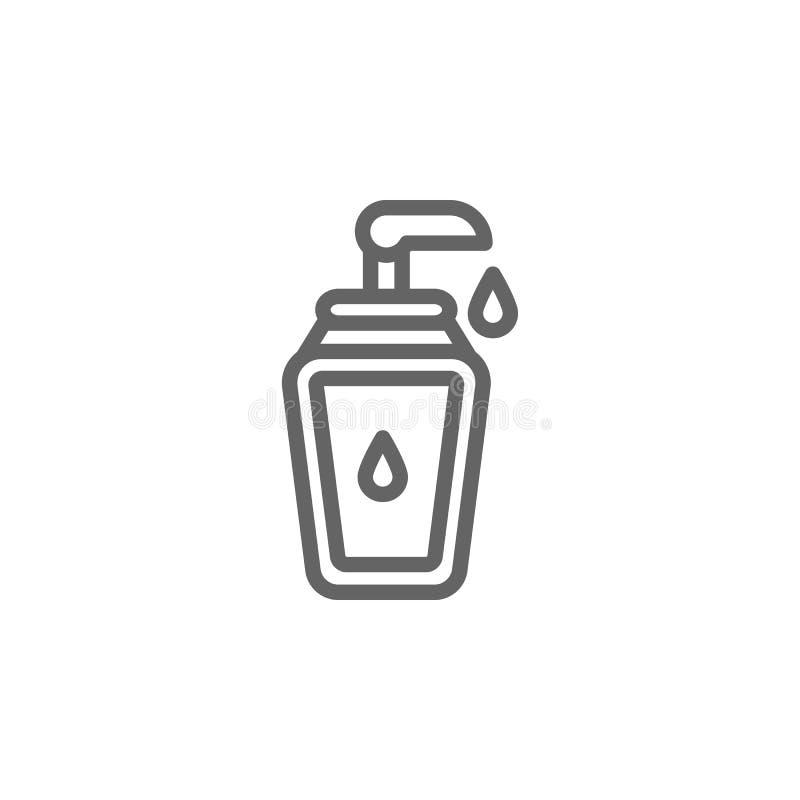 Skincare-Entwurfsikone Elemente der Sch?nheits- und Kosmetikillustration Ikone Zeichen und Symbole k?nnen f?r Netz, Logo, mobiler stock abbildung
