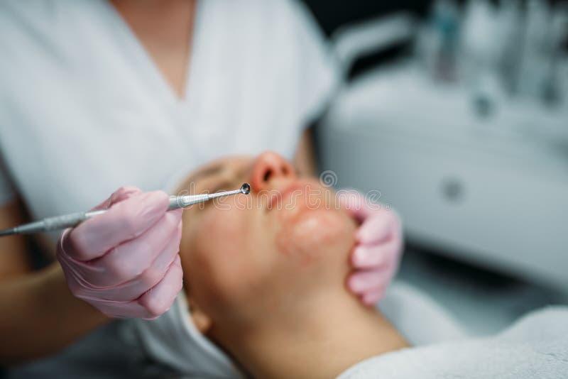 Skincare facial profesional, gabinete de la cosmetología foto de archivo libre de regalías