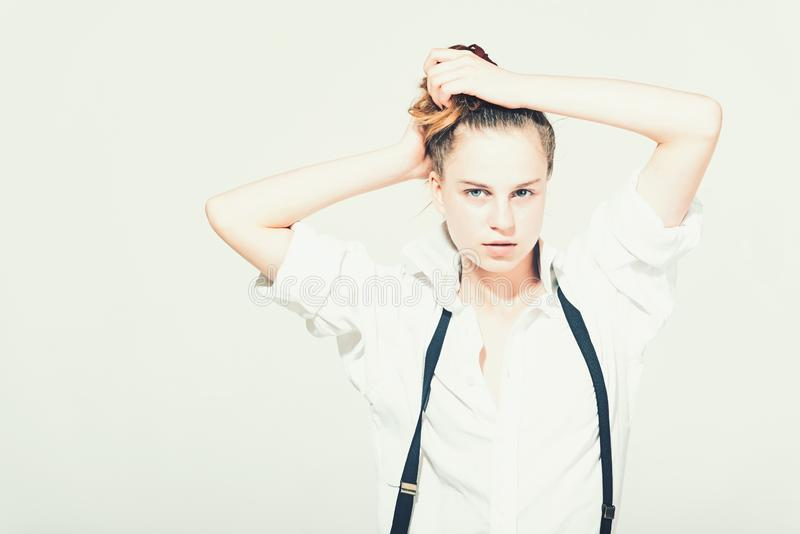Skincare, juventude e olhar foto de stock