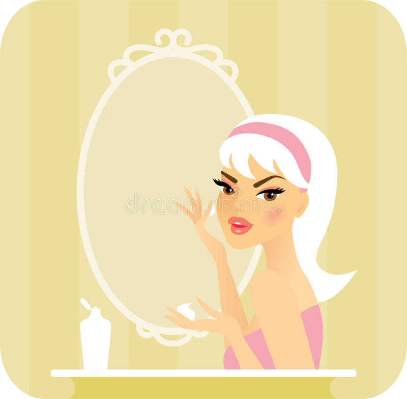 Download Skincare series-Moisturize stock vector. Image of caucasian - 27020419