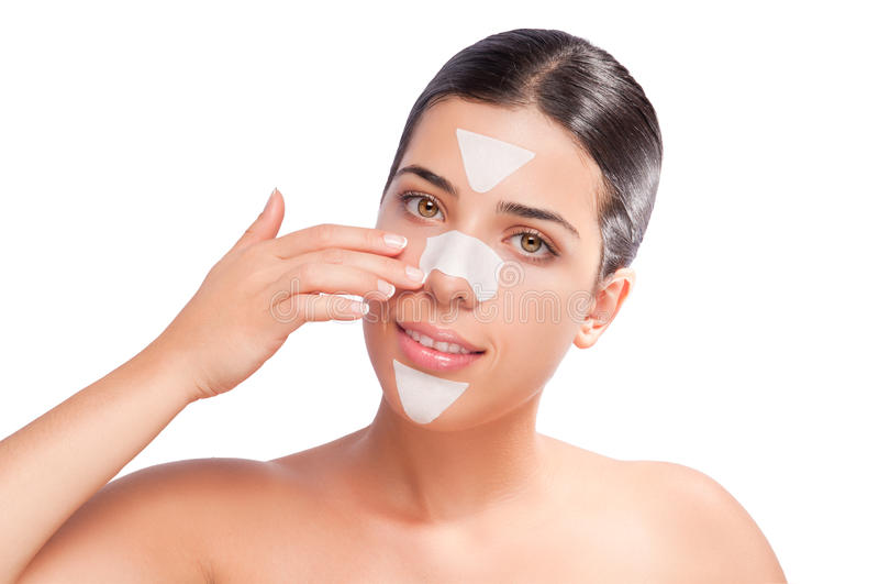 Skincare Streifen lizenzfreies stockbild