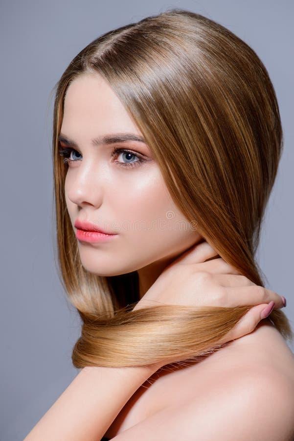Skincare und Haarkonzept stockfotos