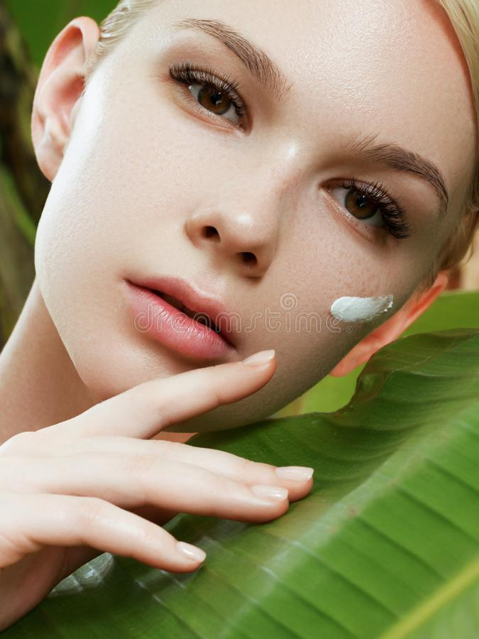 Free Skincare, Wellness, Spa. Clean Soft Skin, Healthy Fresh Look. The Concept Of A Healthy Skin. Portrait Of A Beautiful Royalty Free Stock Photos - 154164058