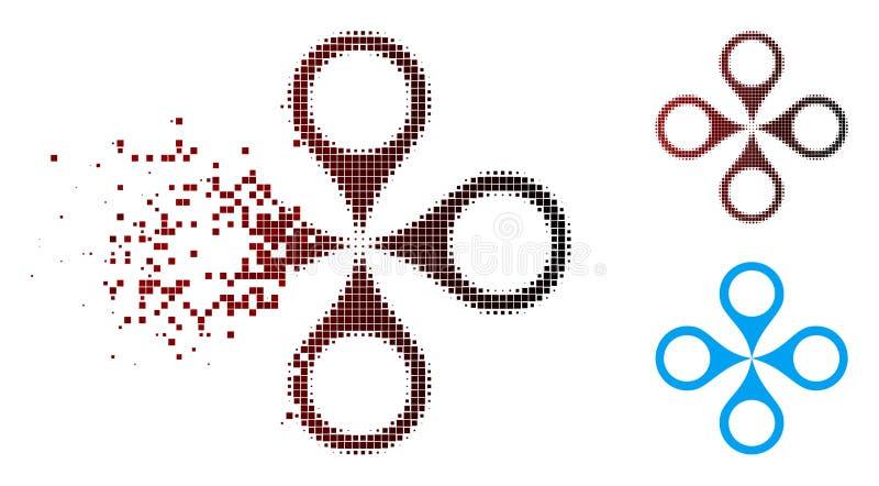 Skingrad för översiktsmarkörer för PIXEL rastrerad symbol stock illustrationer