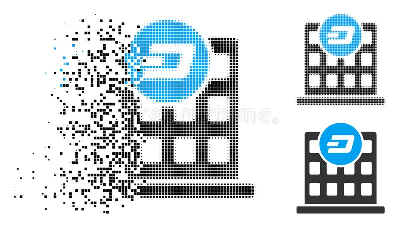 Skingrad PIXEL Halvton Rusa Företag byggnadssymbol royaltyfri illustrationer