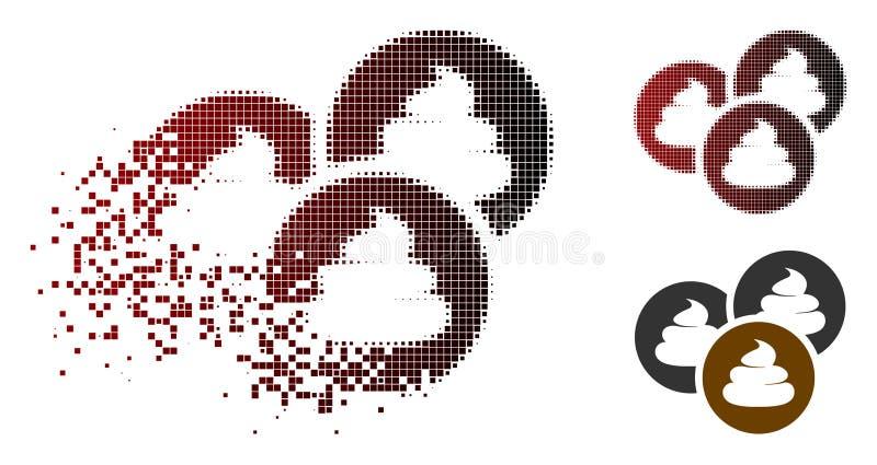Skingrad rastrerad Shitcoins för PIXEL symbol royaltyfri illustrationer