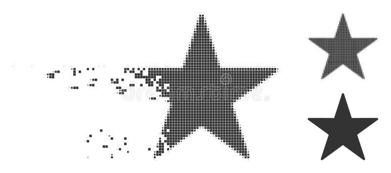 Skingrad rastrerad stjärnasymbol för PIXEL royaltyfri illustrationer