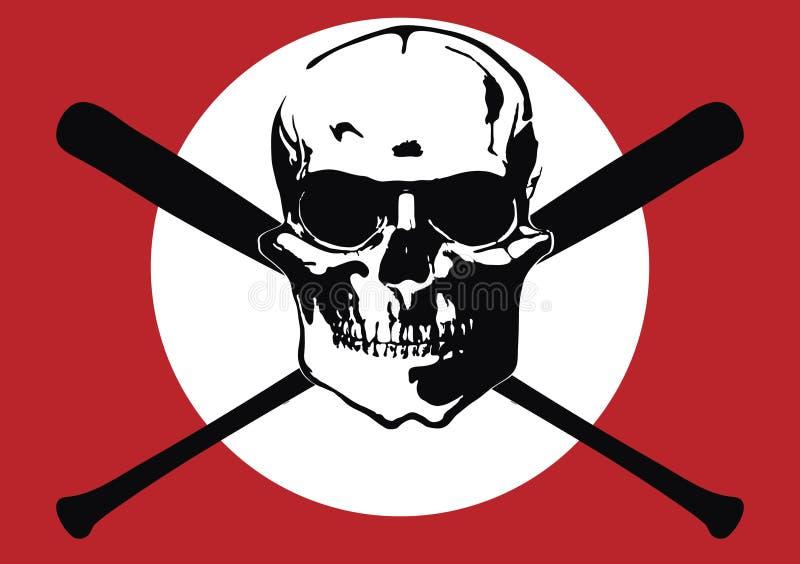 Skinhead's terror. The fantasy skinhead's terror flag royalty free illustration