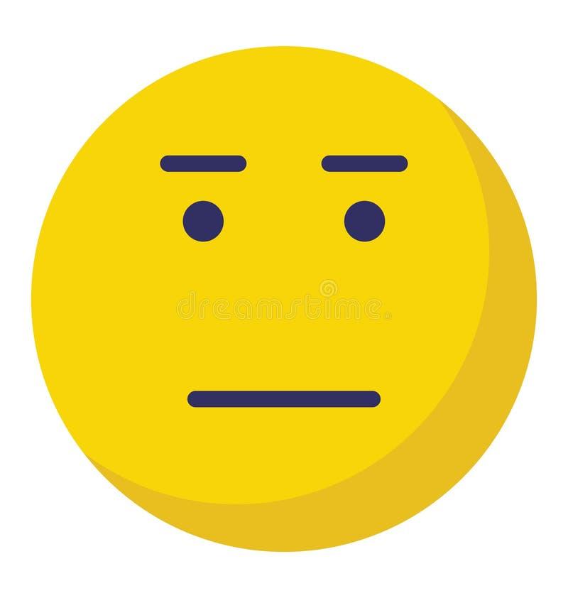 skinienie, emoticons Wektorowa Odosobniona ikona która może łatwo redagować lub modyfikować royalty ilustracja