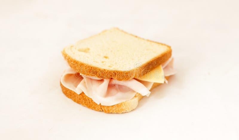 Skinkarostat bröd royaltyfri fotografi