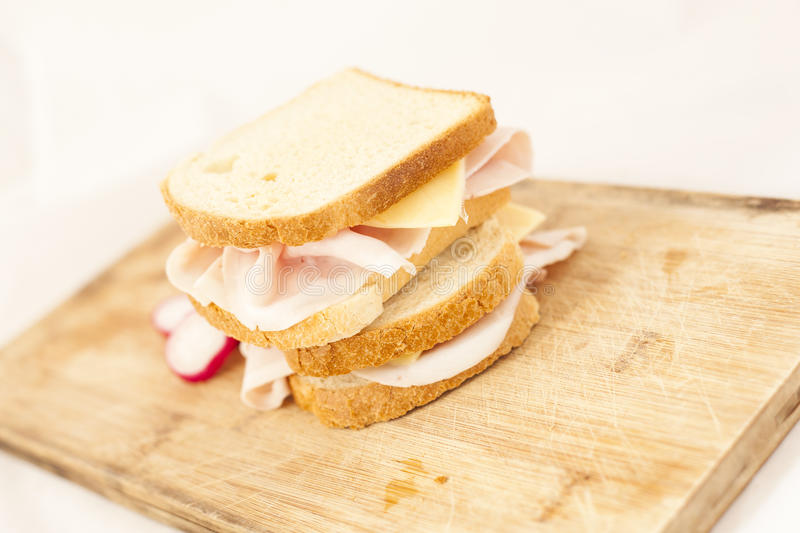 Skinkarostat bröd arkivfoton
