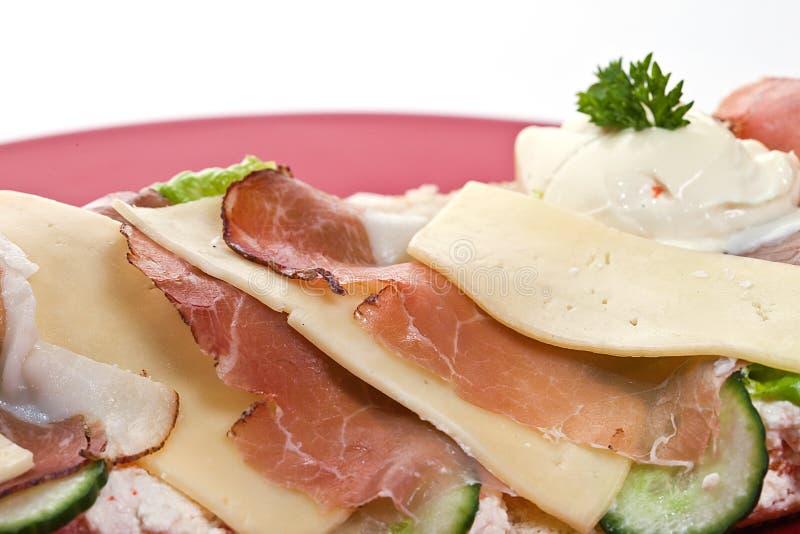 skinksmörgås royaltyfri foto