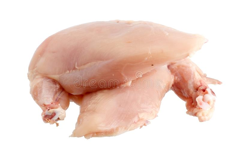 Skinless chicken breast. S isolated on white background royalty free stock images