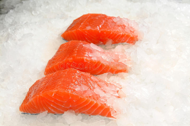 Download Skinless Salmon Fillet On Ice Stock Image - Image: 20799857