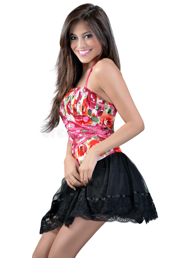 Download Skinny Girl In A Short Skirt Stock Photo - Image: 18588128