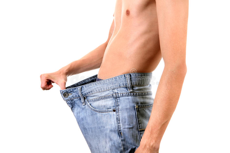 Skinny Young Man royalty free stock photo