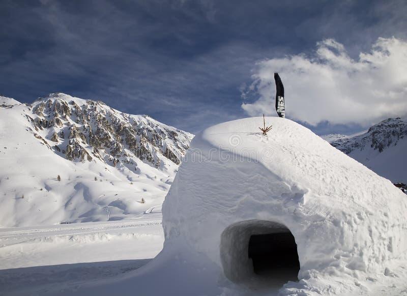 Skiort Tignes lizenzfreies stockbild