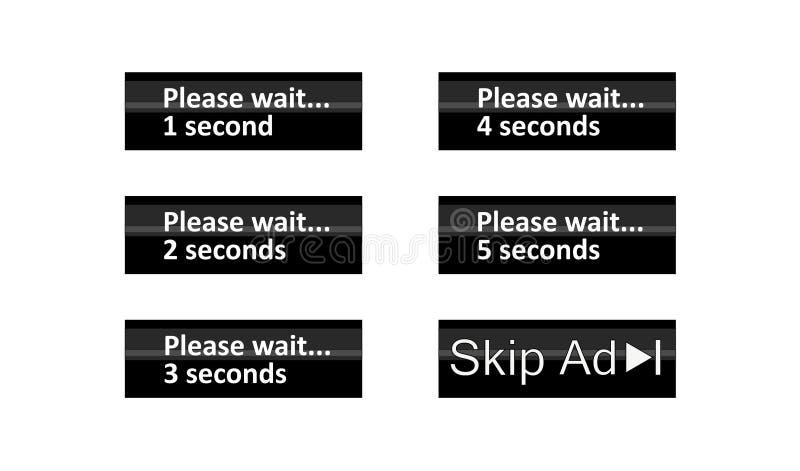 SKIP AD ICON. SKIP AD ADVERTISEMENT ISOLATED ICON stock illustration